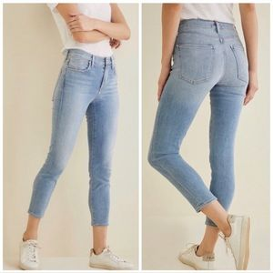Agolde x Amour Vert Sophie High Rise Crop Jeans 26